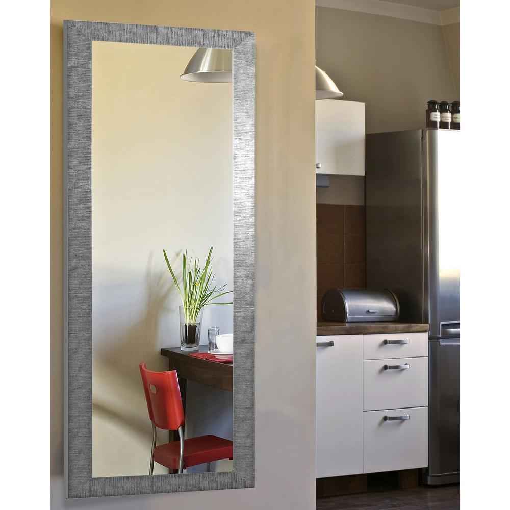 24 in. x 62 in. Vanity Safari Silver Non Beveled Full Body Mirror
