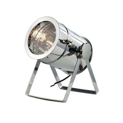 Industrial 12.5 in. Chrome Table Lamp