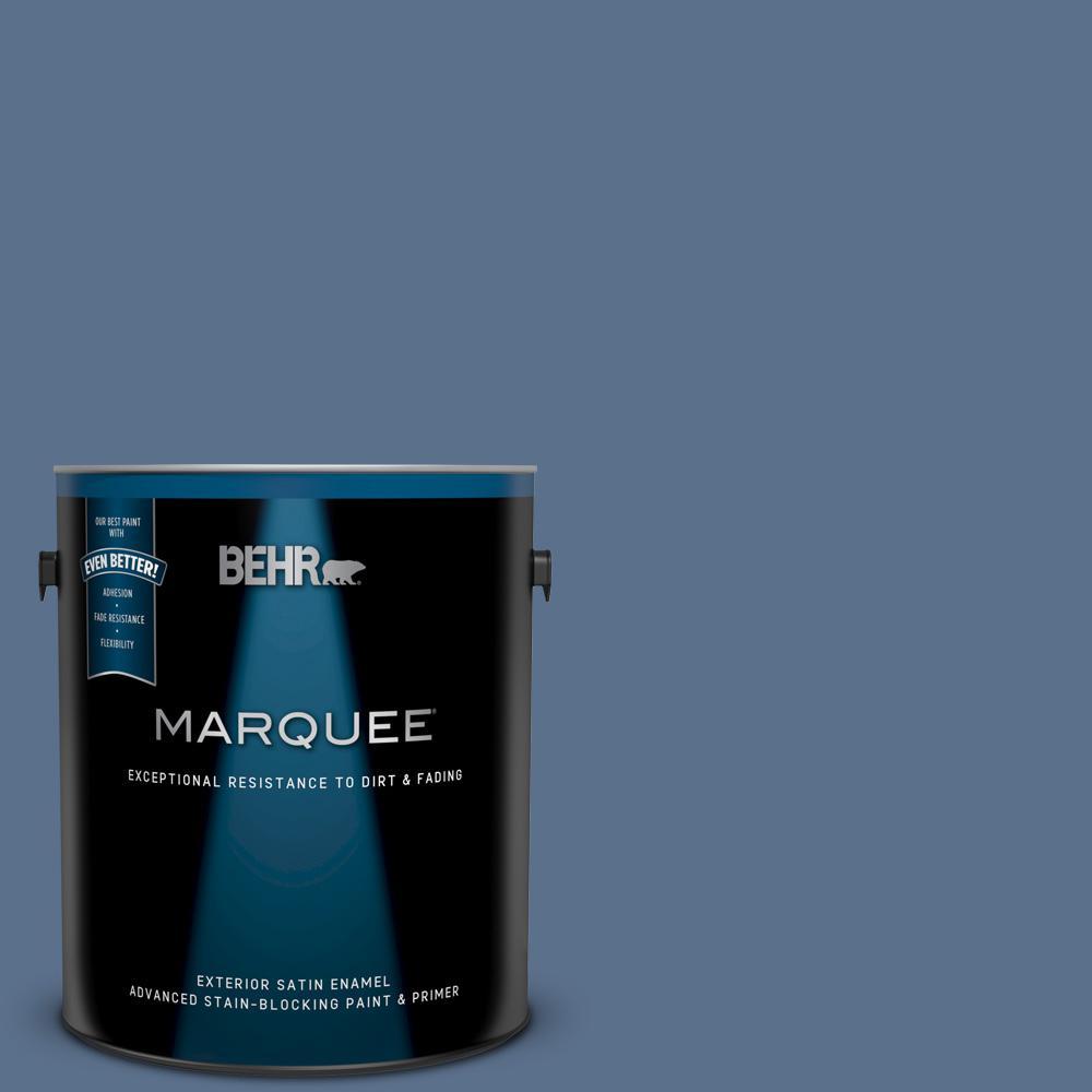 600f 6 Atlantic Blue Satin Enamel Exterior Paint And