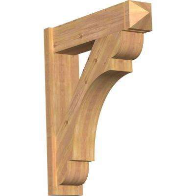 8 in. x 36 in. x 32 in. Western Red Cedar Olympic Arts and Crafts Smooth Outlooker