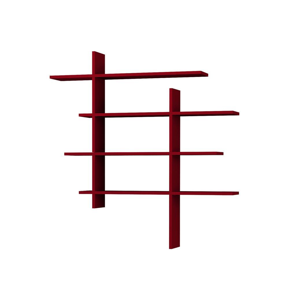Will Burgundy Modern Wall Shelf