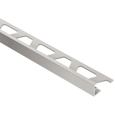 Jolly Satin Nickel Anodized Aluminum 1/2 in. x 8 ft. 2-1/2 in. Metal Tile Edging Trim