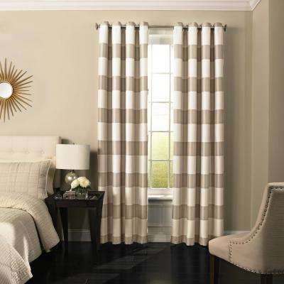 Gaultier 63 in. L Polyester Grommet Curtain in Natural (1-Pack)