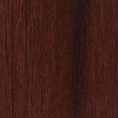 Take Home Sample - Hand Scraped Strand Woven Bamboo Cognac Vinyl Plank Flooring - 5 in. x 7 in.