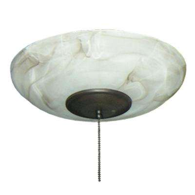 171 Mocha Large Bowl Oil Rubbed Bronze Ceiling Fan Light