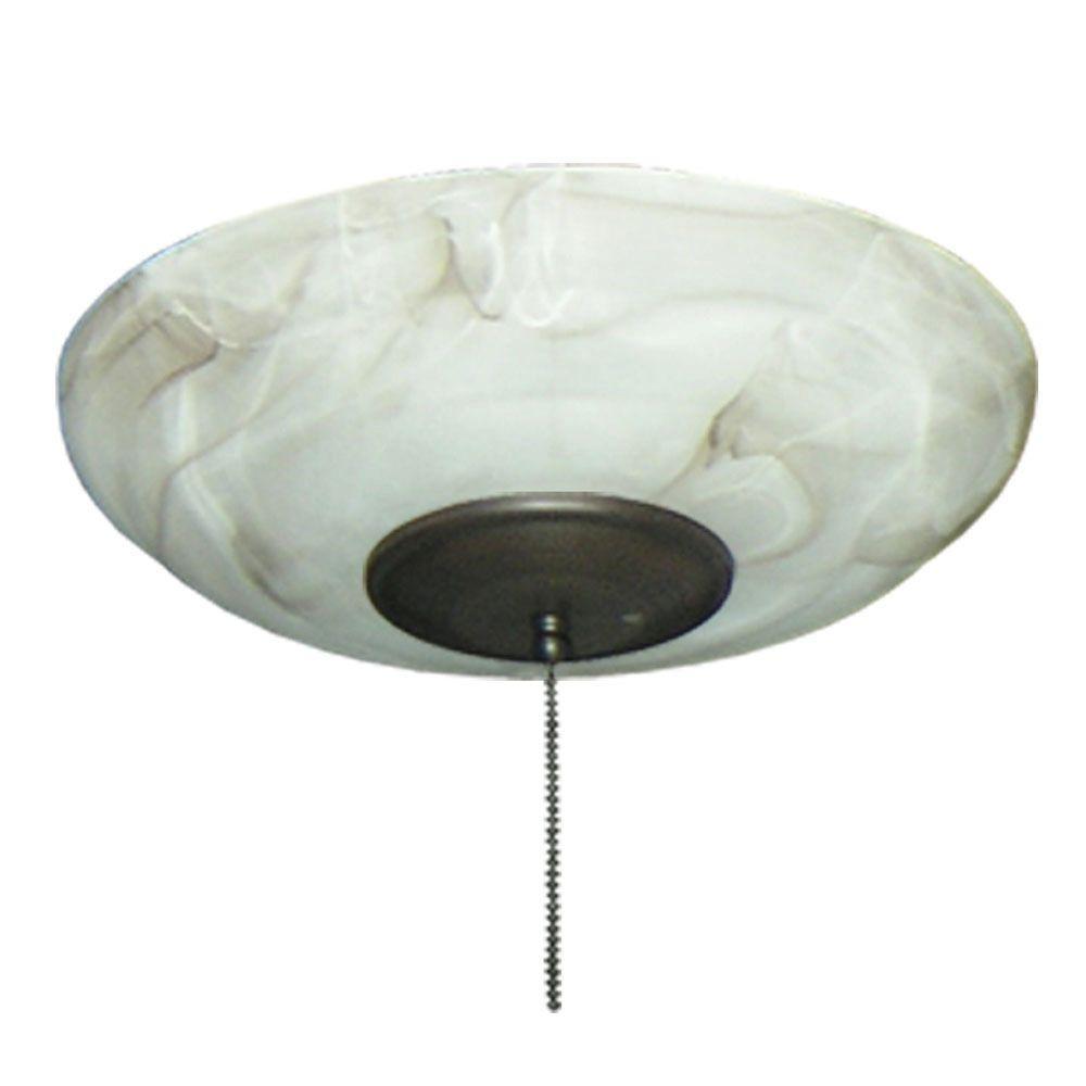 171 Mocha Large Bowl Oil Rubbed Bronze Ceiling Fan Light