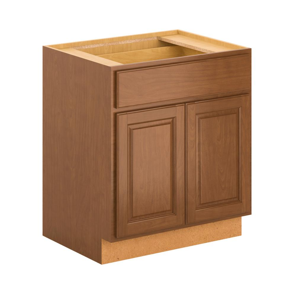 Madison Base Cabinets In Cognac: Hampton Bay Madison Assembled 30x34.5x24 In. Base Cabinet