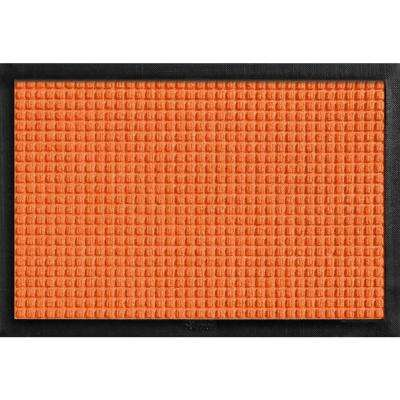 Aqua Shield with Rubber Border Orange 17.5 in. x 26.5 in. Pet Mat