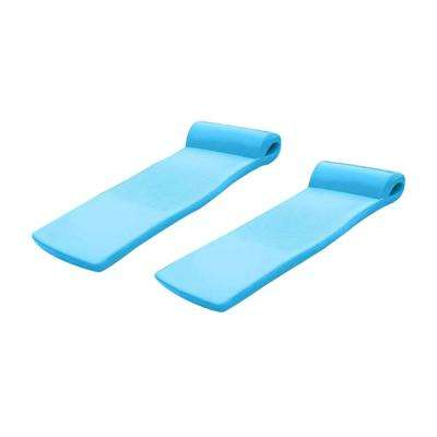 72 in. x 26 in. x 2.5 in. Blue Vinyl Rectangle Ultra Sunsation Adult Outdoor Pool Lounger Raft (2-Pack)