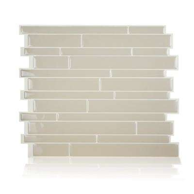 Milano Crema Beige 11.55 in. W x 9.63 in. H Beige Peel and Stick Self-Adhesive Mosaic Wall Tile Backsplash (6-Pack)