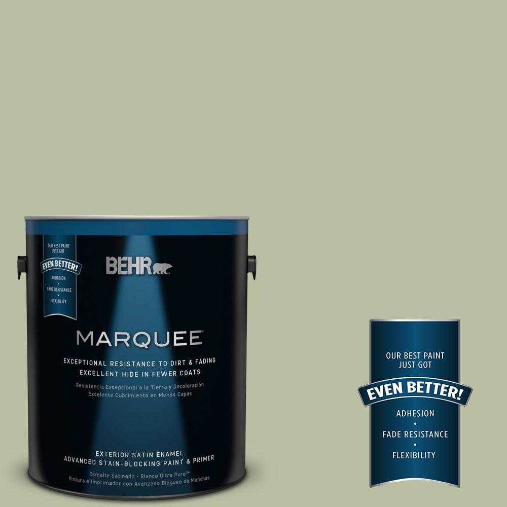 BEHR MARQUEE 1-gal. #ICC-57 Dried Thyme Satin Enamel Exterior Paint