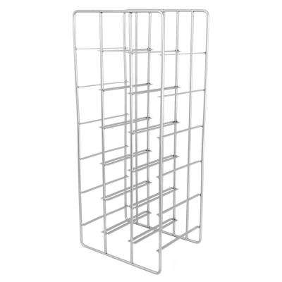 Milano 18-Bottle Silver Metal Wine Rack