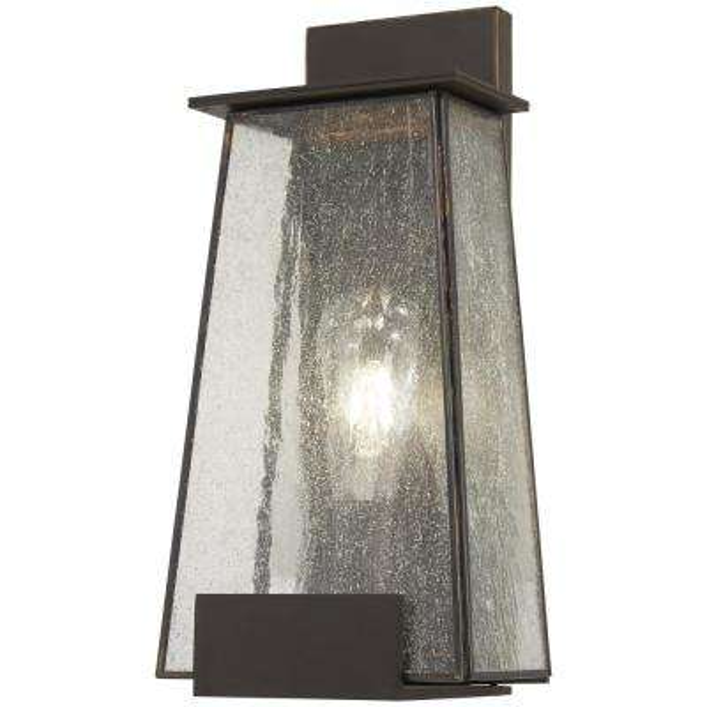 Bistro Dawn 1-Light Dakota Bronze Outdoor Wall Mount Lantern