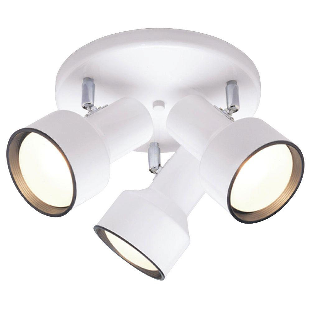 Westinghouse 3 Light Ceiling Fixture White Interior Multi Directional Flush Mount
