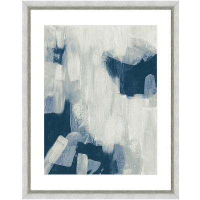 """Abstract brushstrokes II"" Framed Archival Paper Wall Art (26 in. x 32 in. in full size)"