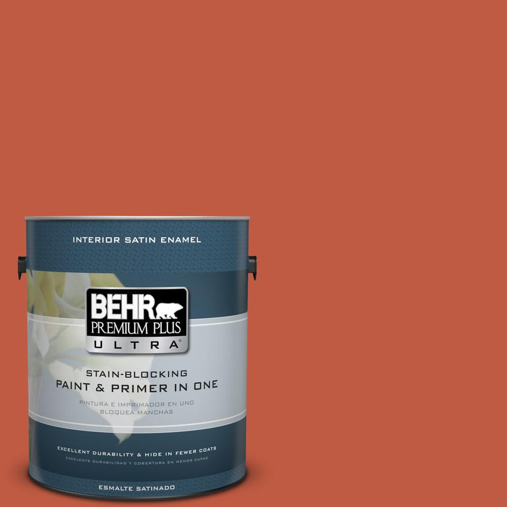1-gal. #M180-7 Deep Fire Satin Enamel Interior Paint