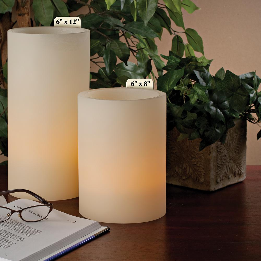 null 12 in. H Battery Operated Bisque Wax Candle with Remote