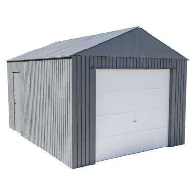 Everest 12 ft. H x 15 ft. W Charcoal Wind and Snow Rated Steel Garage
