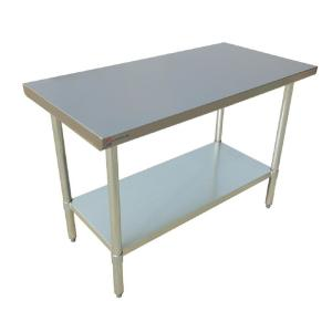 Internet #303495959. Null Stainless Steel Silver Kitchen Utility Table ...