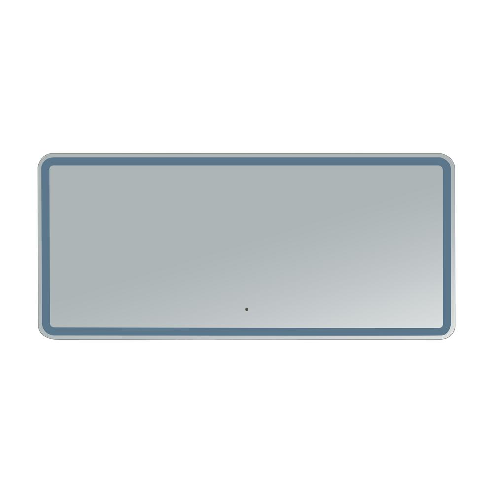 innoci-usa Hermes 62 in. x 28 in. Rounded Edge LED Mirror