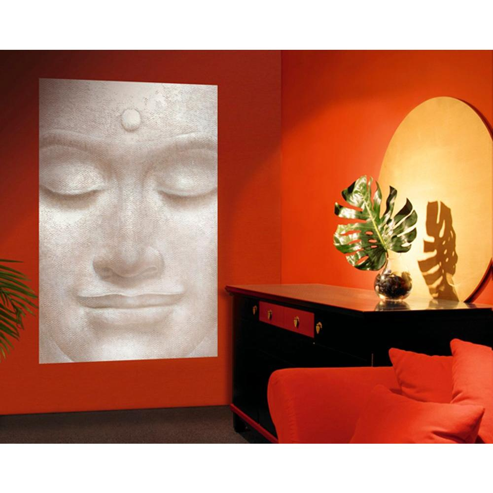 Ideal Decor 69 In. X 0.25 In. Smiling Buddha Wall Mural Part 43