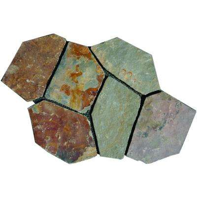 Santa Barbara 2.75 sq. ft. Natural Slate Meshed Flagstone Paver Tile (48 Pieces/132 Sq. ft./Pallet)
