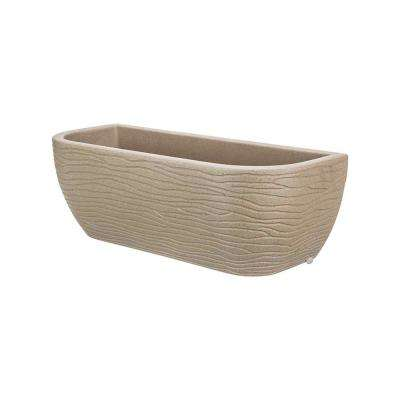 Large Beige Stone Effect Resin Wall Planter