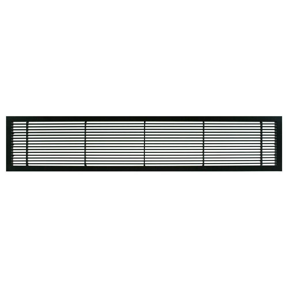 Architectural Grille AG10 Series 4 in. x 30 in. Solid Aluminum Fixed Bar Supply/Return Air Vent Grille, Black-Matte