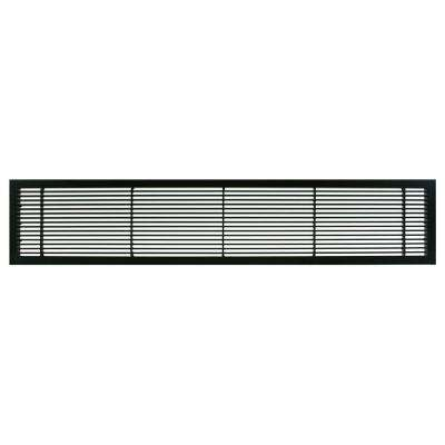 AG10 Series 6 in. x 24 in. Solid Aluminum Fixed Bar Supply/Return Air Vent Grille, Black-Matte