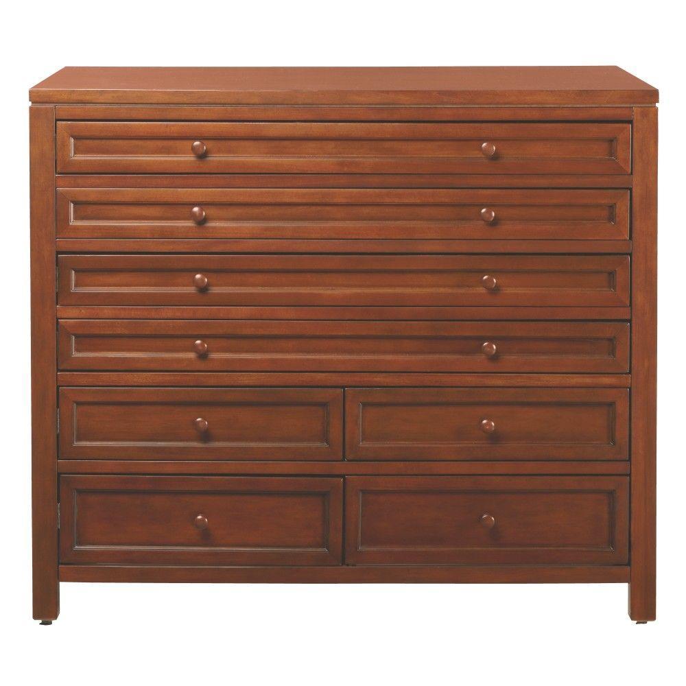 Martha stewart living craft space 42 in w 8 drawer flat for Martha stewart living craft furniture