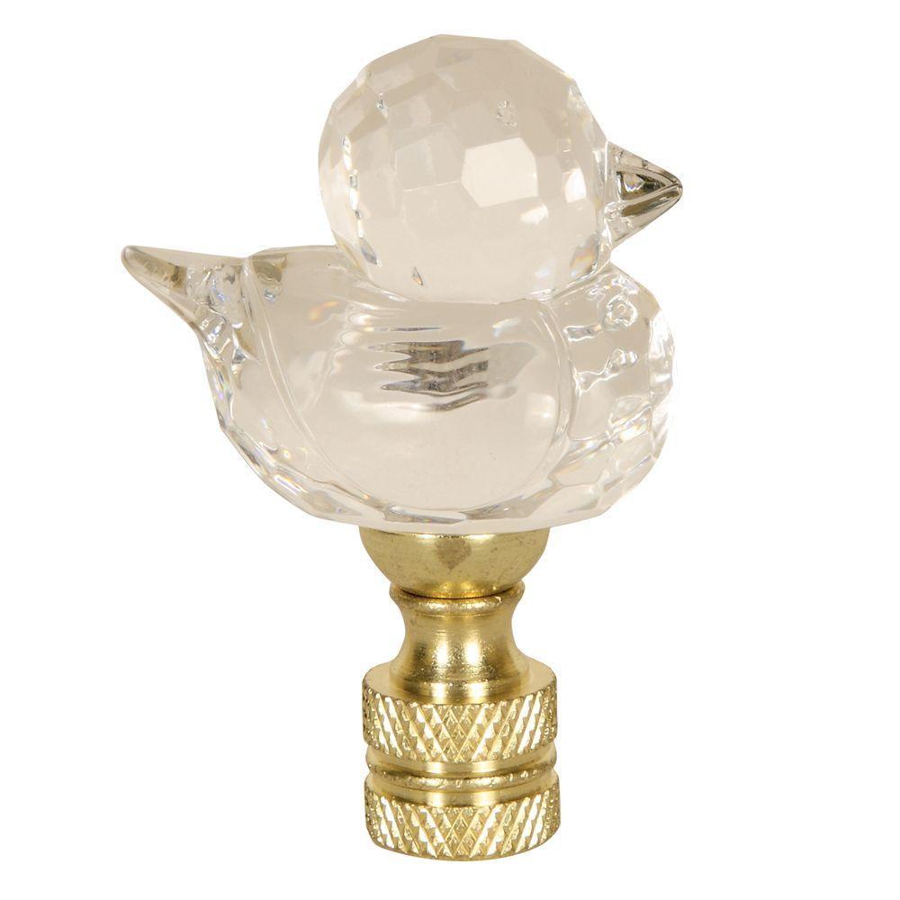 Mario Industries Clear acrylic single duck lamp finial-DISCONTINUED