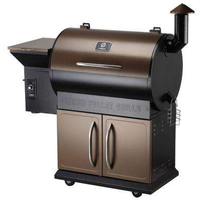 Charles Wood Pellet BBQ Grill with Digital Temperature Controls and Smoker  in Bronze