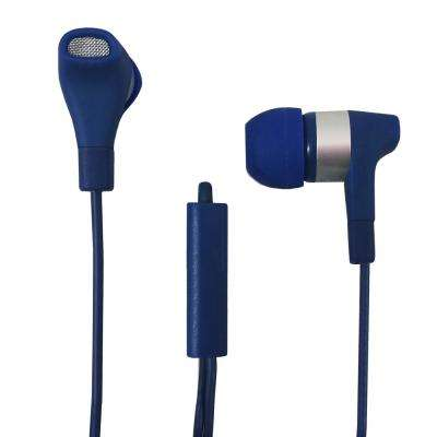 Stereo Earbuds with Microphone in Blue