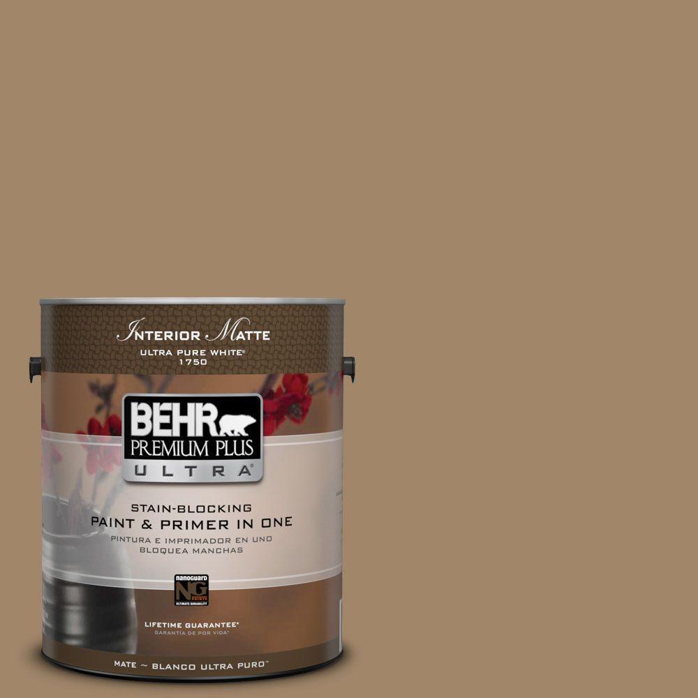 BEHR Premium Plus Ultra Home Decorators Collection 1 gal. #HDC-NT-28 Soft Bronze Flat/Matte Interior Paint