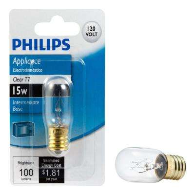 15-Watt Incandescent T7 Clear Light Bulb