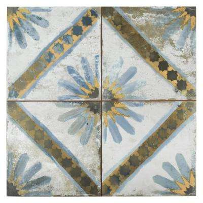 Kings Marrakech Blue 17-5/8 in. x 17-5/8 in. Ceramic Floor and Wall Tile (11.1 sq. ft. / case)