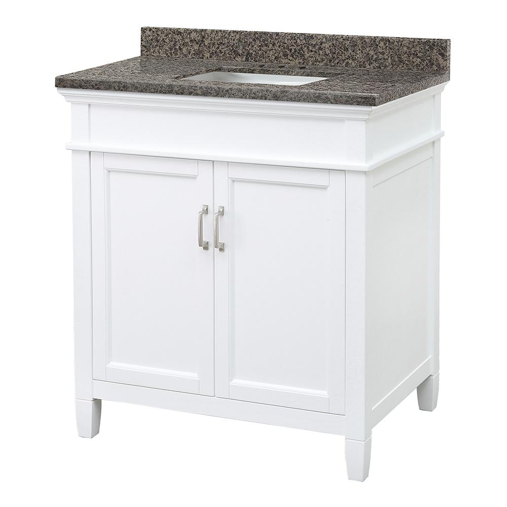 Home Decorators Collection Ashburn 31 in. W x 22 in. D Vanity with Granite Vanity Top in Sircolo with White Sink was $849.0 now $594.3 (30.0% off)