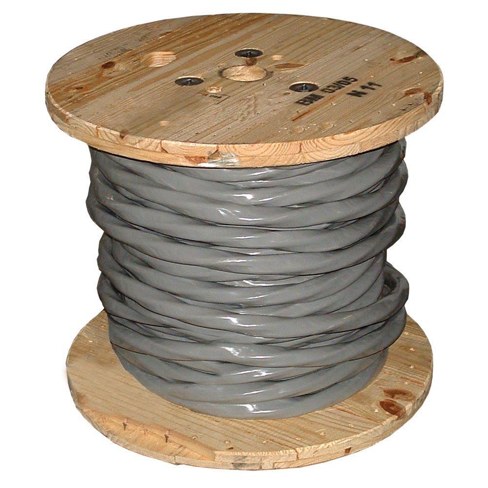 250 ft. 4/0-4/0-4/0-2/0 Gray Stranded AL SER Cable