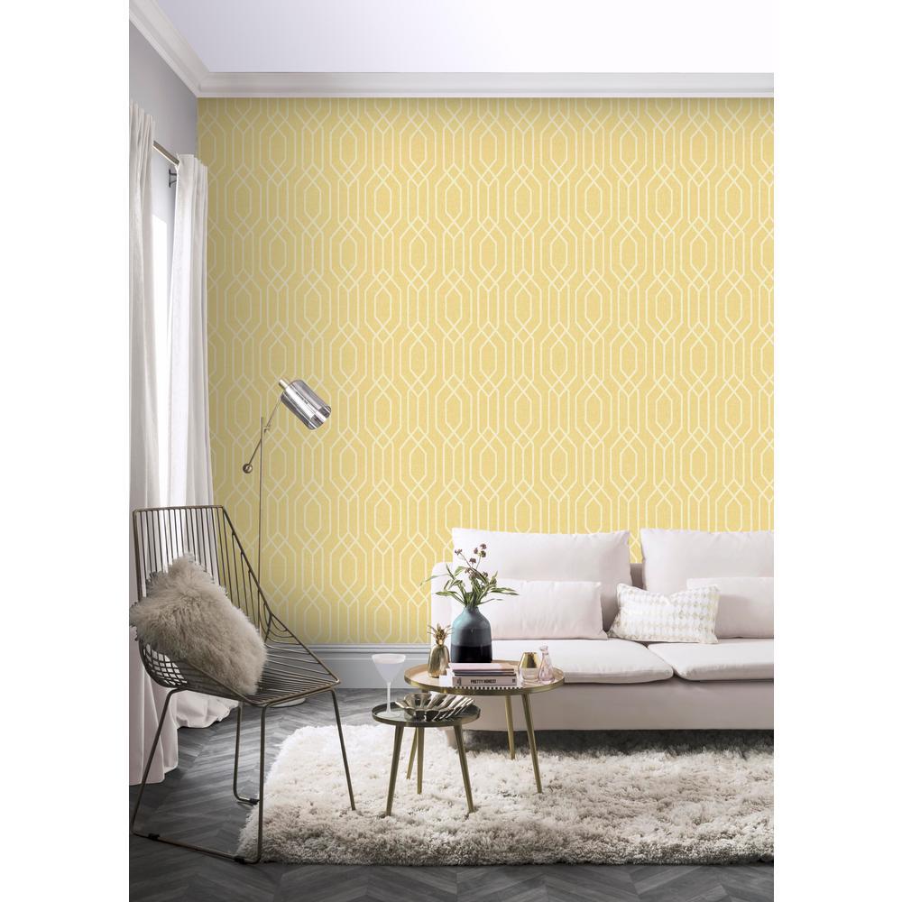 New York Geo Yellow Wallpaper