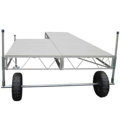 32 ft. Patio Roll-In Dock with Gray Aluminum Decking