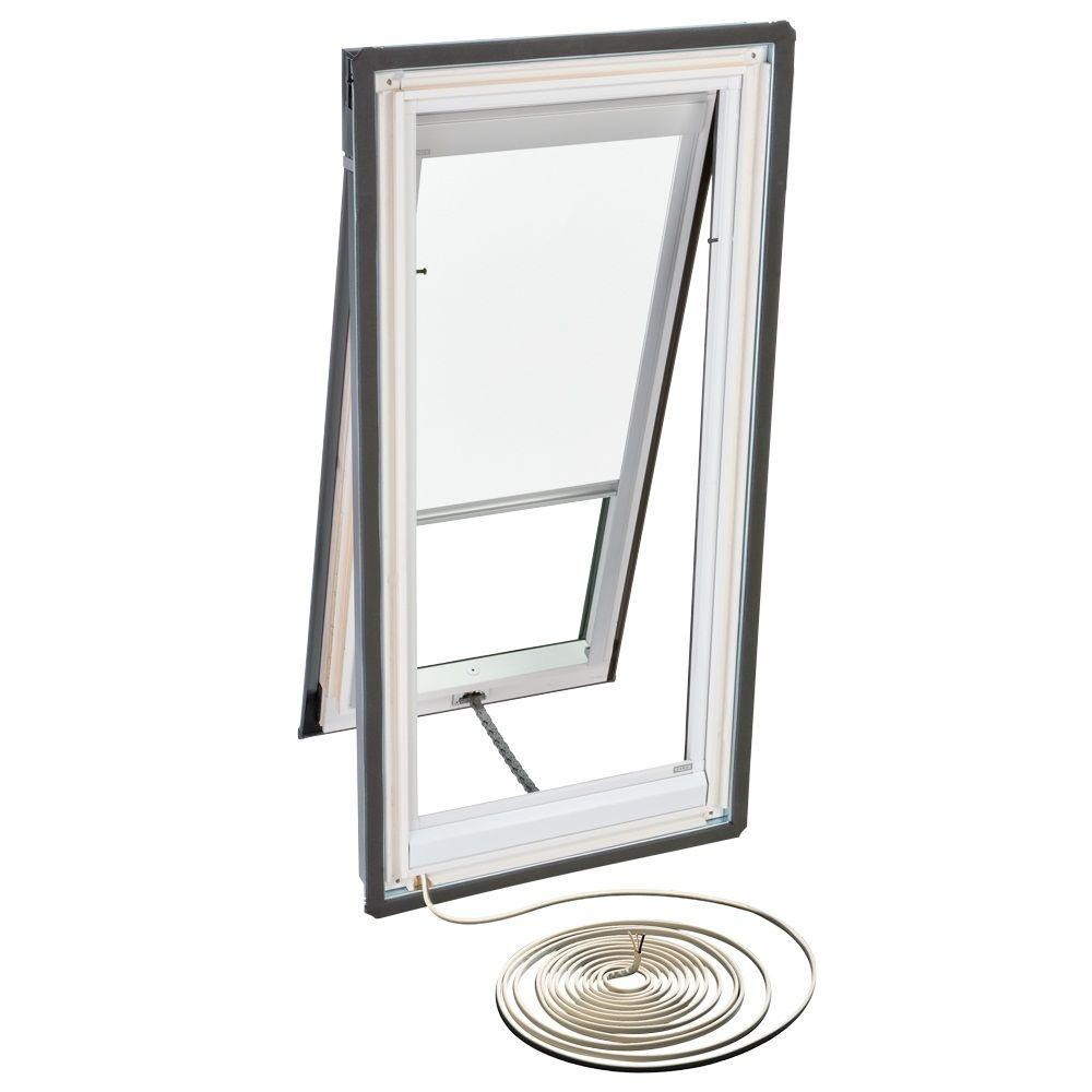 VELUX White Electric Light Filtering Skylight Blinds for VSE M02 Models-DISCONTINUED