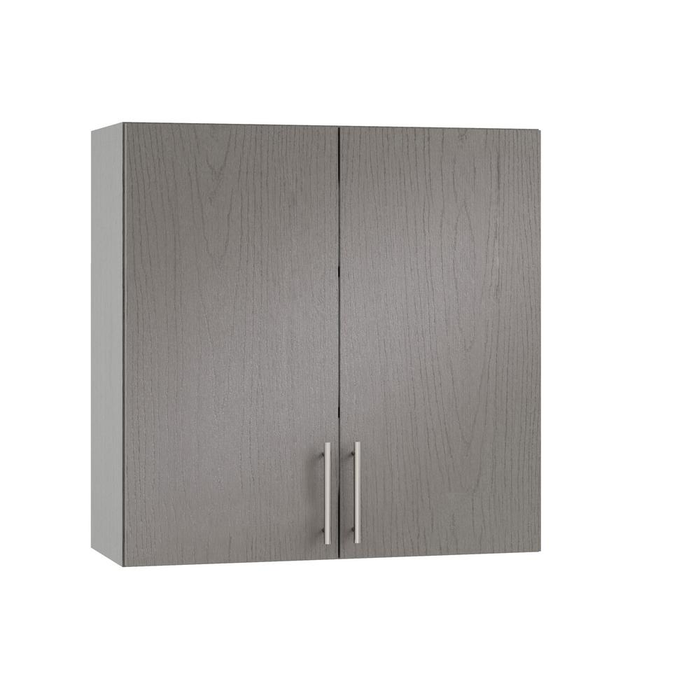 WeatherStrong Assembled 24x30x12 in. Miami Open Back Outdoor Kitchen Wall  Cabinet with 2 Doors in Rustic Gray