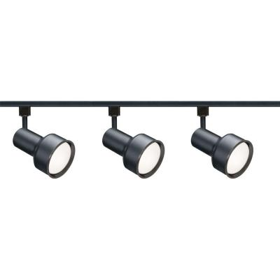 3-Light R30 Black Step Cylinder Track Lighting Kit