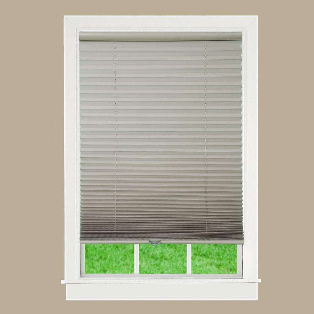Camel 1 in. Light Filtering Cordless Pleated Shade - 57 in.