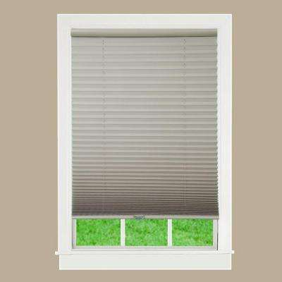 White 1 in. Light Filtering Cordless Pleated Shade