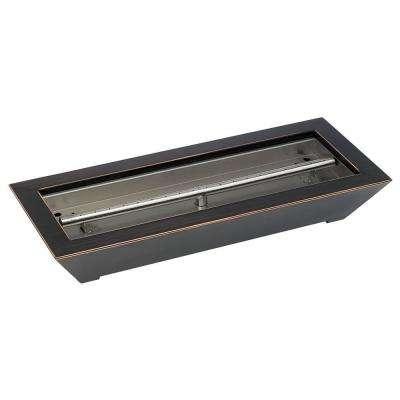 24 in. W x 10 in. D x 4 in. H Oiled Rubbed Bronze Paramount Fireplace Pan Burner
