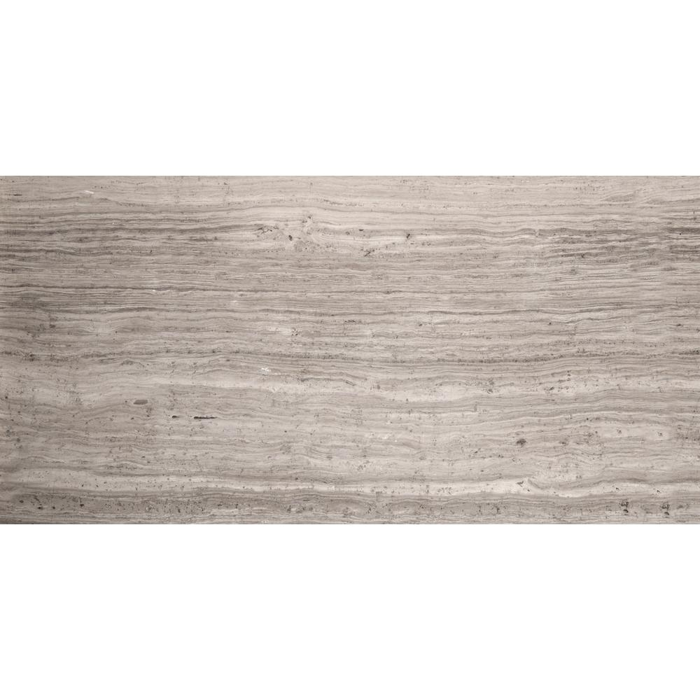 Limestone Gray Honed 5.98 in. x 24.02 in. Limestone Floor and