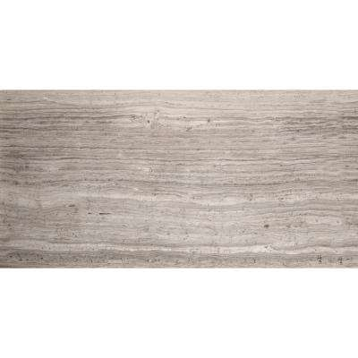 Limestone Gray Honed 5.98 in. x 24.02 in. Limestone Floor and Wall Tile (1.0 sq. ft.)