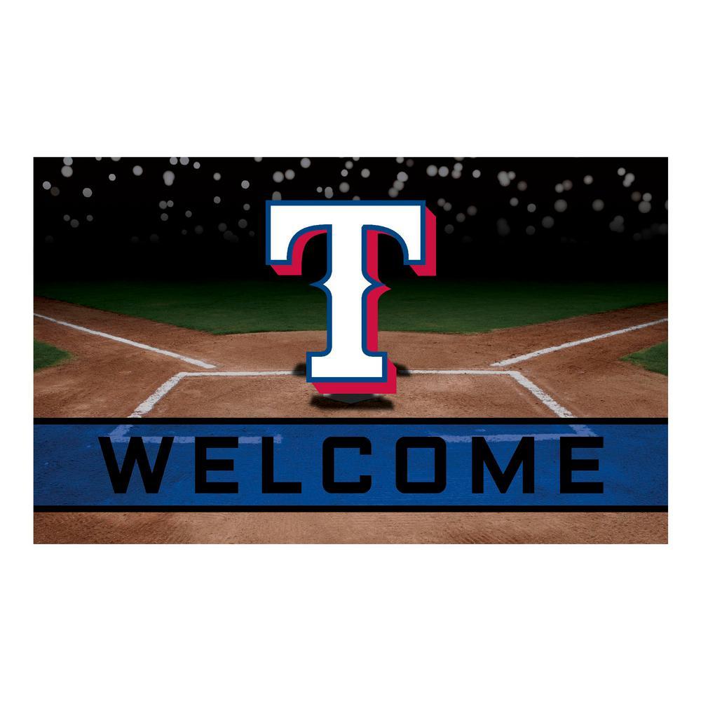 MLB - Texas Rangers 18 in. x 30 in. Rubber Door