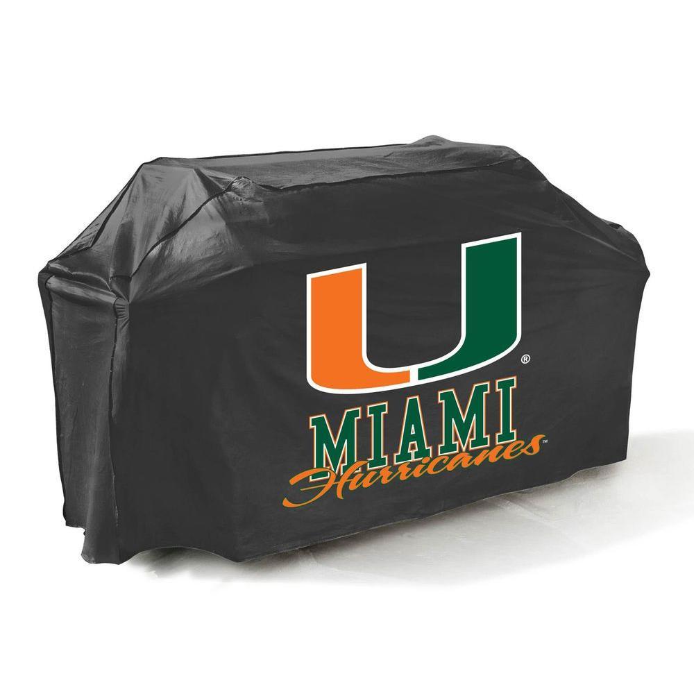 Mr. Bar-B-Q 65 in. NCAA Miami Hurricanes Grill Cover-DISCONTINUED